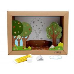 Kit gioco creativo in carta Nina Pois Passeggiata nel bosco