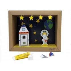 Kit creativo in carta Viaggio sulla luna Nina Pois