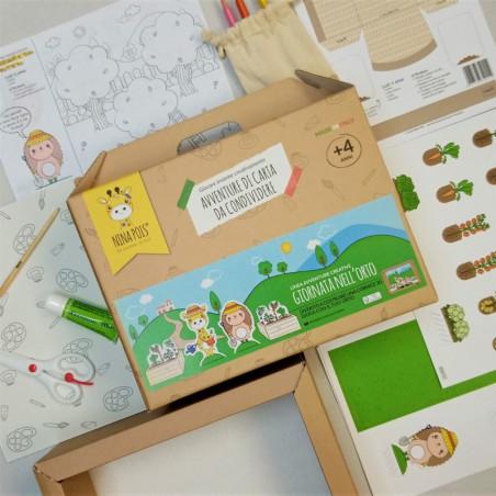 ACTIVITY BOX CRETIVA EDUCATIVA ORTO PER BAMBINI 4+